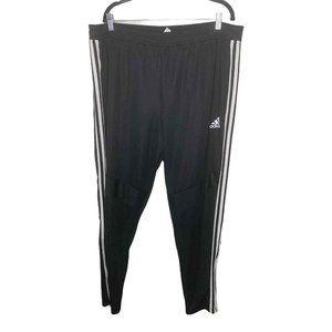 Adidas Black Training 3 Stripes Ankle Track Pants